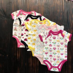 A81 Swiggles Infant girls printed onesies